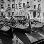 Napping Gondolier. Venice, Italy