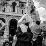 Sister at Sacre-Coeur. Paris, France